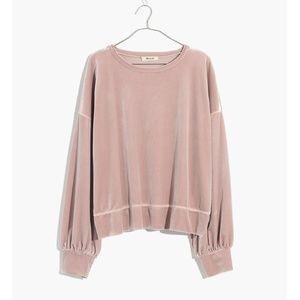 Madewell Velvet Sweatshirt NWOT